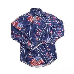 Polo Ralph Lauren Flag Print Oxford Shirt